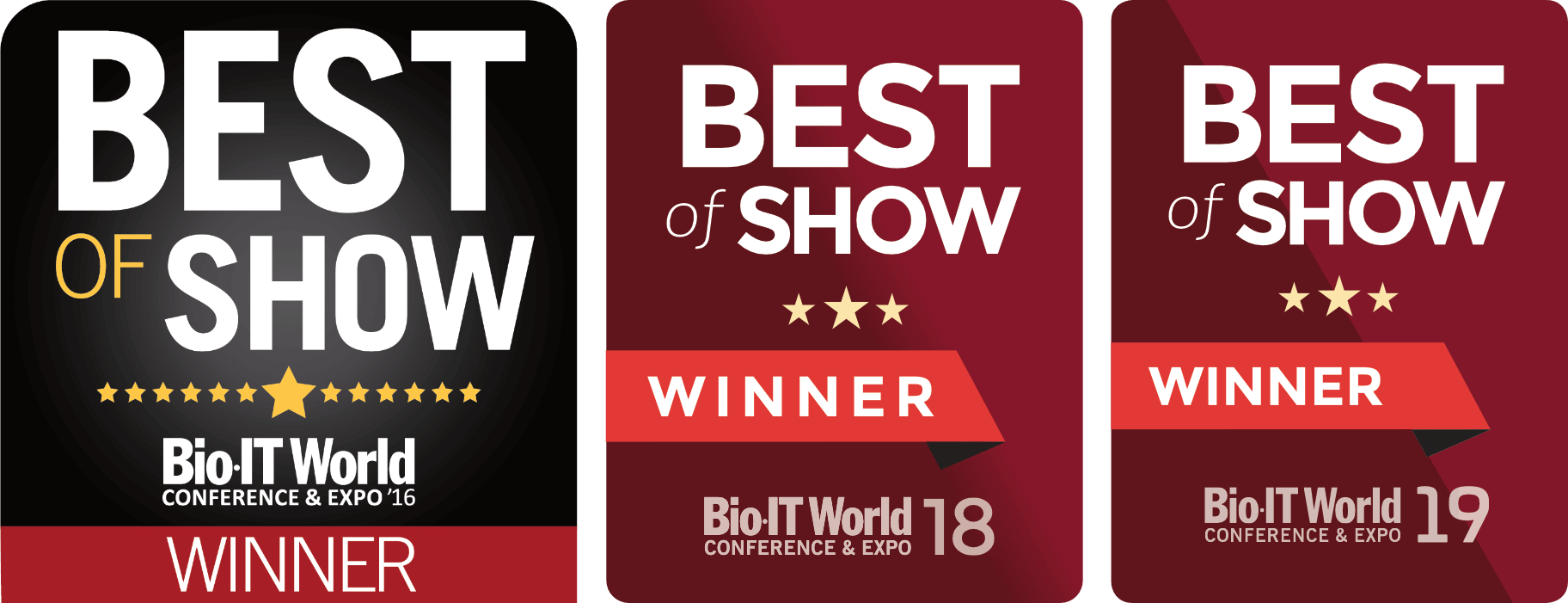 Three Best of Show winner awards