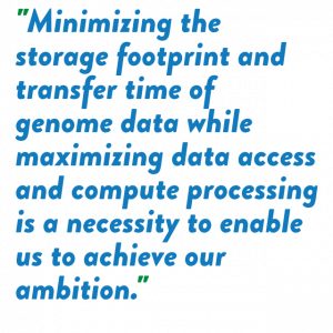 AstraZeneca needed to minimize storage footprint & maximize data access
